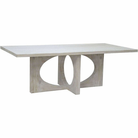 CFC Buttercup Reclaimed Lumber Dining Table, Gray Wash, 86