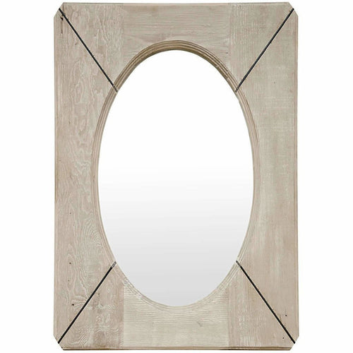 CFC Reclaimed Lumber Musas Mirror, Steel Insets-Mirrors-CFC-Heaven's Gate Home, LLC