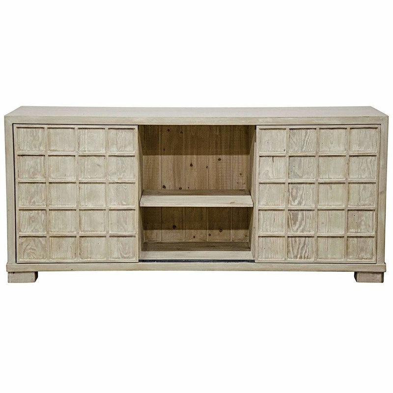 CFC Hayward 3-Door Reclaimed Lumber Sideboard, Gray Wash *Quick Ship*-Sideboards-CFC-Heaven's Gate Home