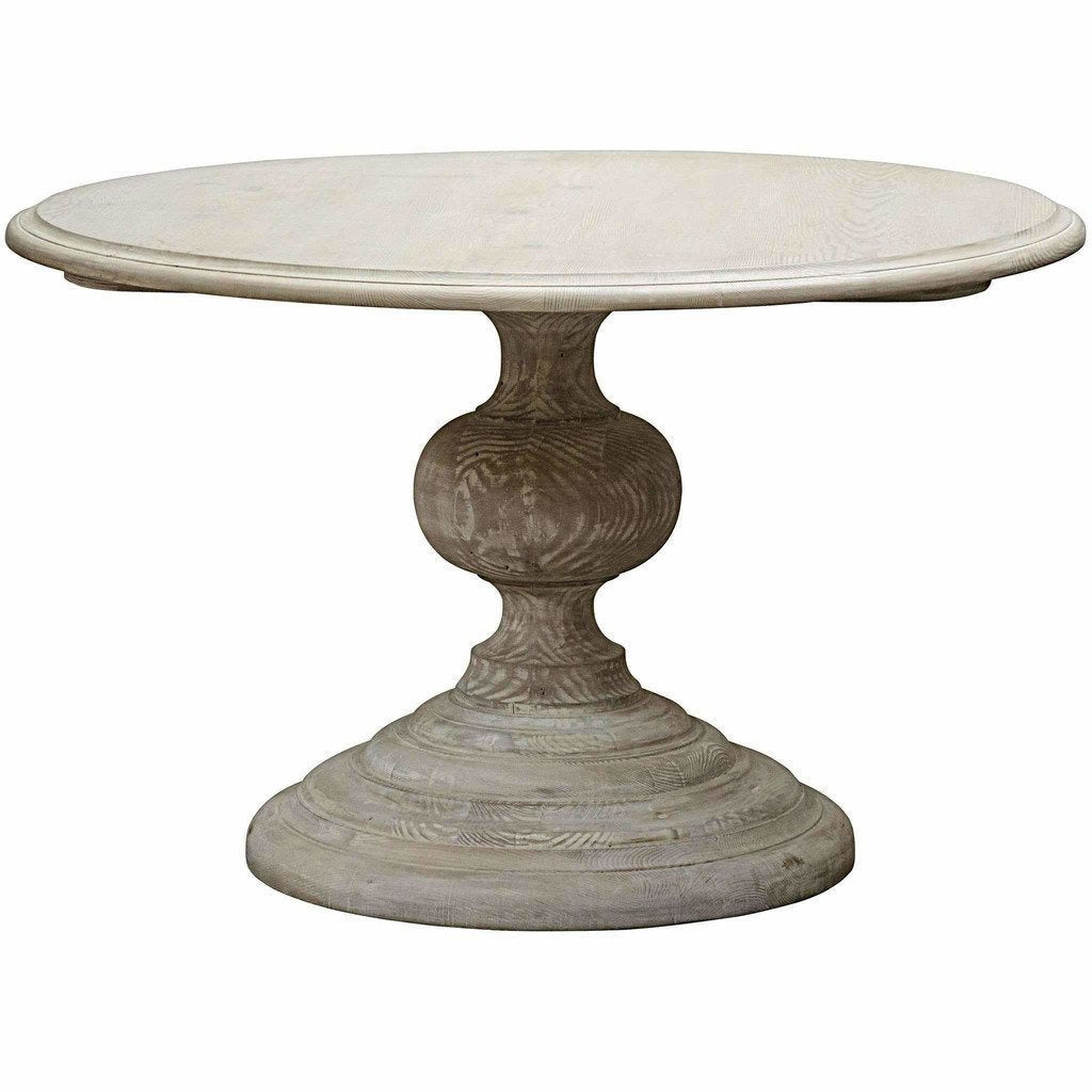 "CFC Adaliz Reclaimed Lumber Dining Table, Gray Wash, 48"" Round *Quick Ship*-Dining Tables-CFC-Heaven"