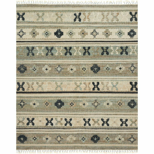 "Loloi Owen OW-01 Transitional Hand Woven Area Rug-Rugs-Loloi-Aqua-1'-6"" x 1'-6"" Sample-Heaven's Gate Home, LLC"