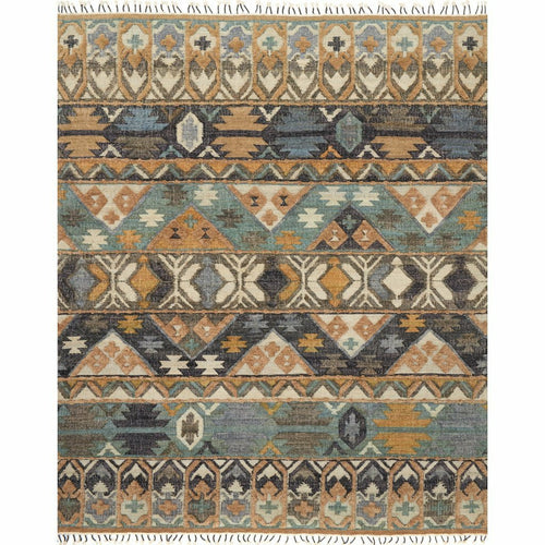 "Loloi Owen OW-02 Transitional Hand Woven Area Rug-Rugs-Loloi-Multi-1'-6"" x 1'-6"" Sample-Heaven's Gate Home, LLC"