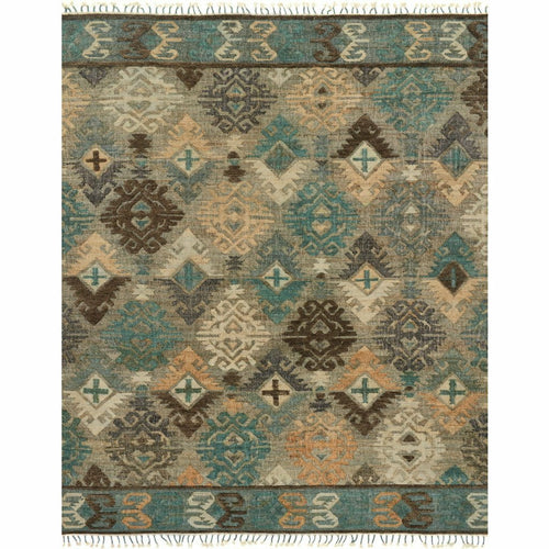 "Loloi Owen OW-07 Transitional Hand Woven Area Rug-Rugs-Loloi-Teal-1'-6"" x 1'-6"" Sample-Heaven's Gate Home, LLC"