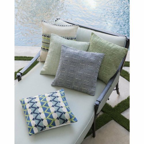 Loloi P0339 Hand Woven Polyester Outdoor Pillow