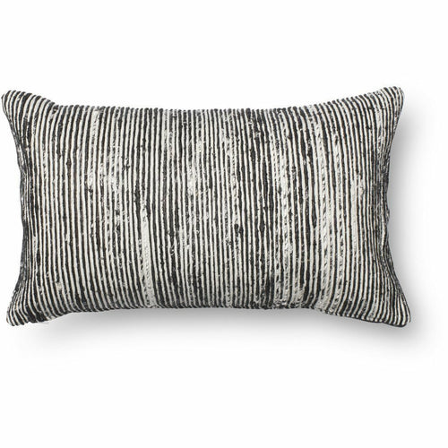 "Loloi P0242 Cotton Pillow, Set/2-Pillows-Loloi-Black-13"" x 21"", Set/2-Cover Only-Heaven's Gate Home, LLC"