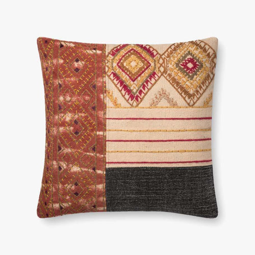 Loloi P0679 Cotton Pillow-Pillows-Loloi-Heaven's Gate Home, LLC