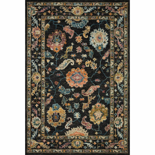"Loloi Padma PMA-01 Transitional Hooked Area Rug-Rugs-Loloi-Black-2'-3"" x 3'-9""-Heaven's Gate Home, LLC"