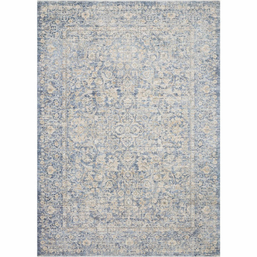 "Loloi Pandora PAN-01 Traditional Power Loomed Area Rug-Rugs-Loloi-Blue-1'-6"" x 1'-6"" Sample-Heaven's Gate Home, LLC"