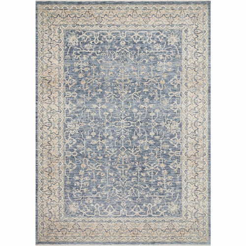 "Loloi Pandora PAN-04 Traditional Power Loomed Area Rug-Rugs-Loloi-Blue-1'-6"" x 1'-6"" Sample-Heaven's Gate Home, LLC"
