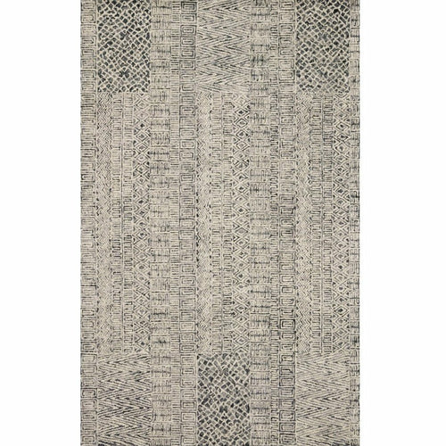 "Loloi Peregrine PER-06 Contemporary Hand Tufted Area Rug-Rugs-Loloi-Charcoal-1'-6"" x 1'-6"" Sample-Heaven's Gate Home, LLC"
