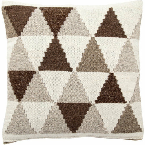 "Jaipur Living Terzan Peykan Brown Handmade Pillow, Set/2-Pillows-Jaipur Living-Brown-20"" x 20"", Set/2-Down-Heaven's Gate Home, LLC"