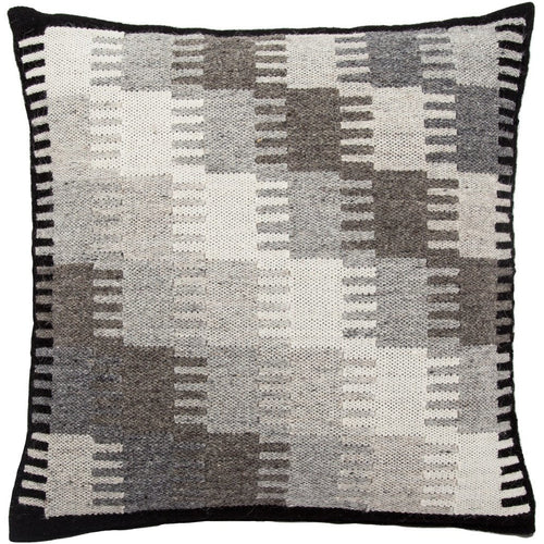 "Jaipur Living Terzan Peykan Gray Handmade Pillow, Set/2-Pillows-Jaipur Living-Gray-20"" x 20"", Set/2-Down-Heaven's Gate Home, LLC"