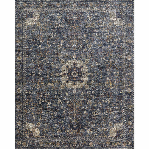 "Loloi Porcia PB-01 Transitional Power Loomed Area Rug-Rugs-Loloi-Blue-1'-6"" x 1'-6"" Sample-Heaven's Gate Home, LLC"