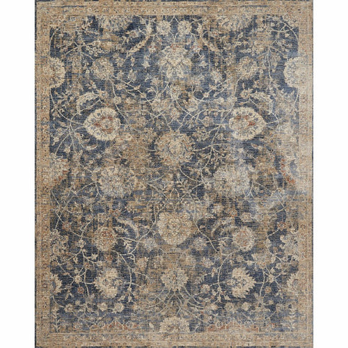 "Loloi Porcia PB-06 Transitional Power Loomed Area Rug-Rugs-Loloi-Blue-1'-6"" x 1'-6"" Sample-Heaven's Gate Home, LLC"