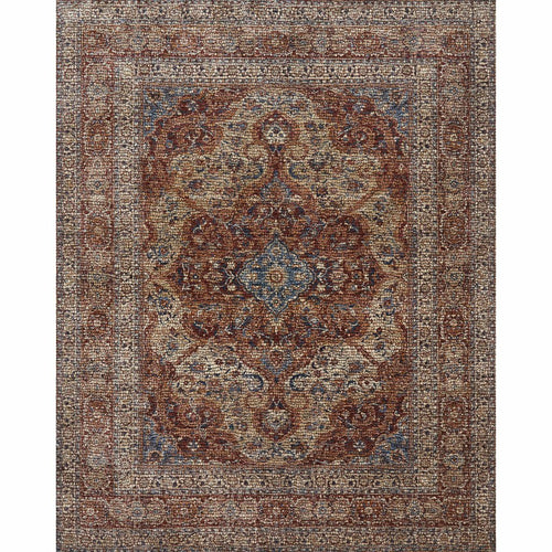 "Loloi Porcia PB-07 Transitional Power Loomed Area Rug-Rugs-Loloi-Red-1'-6"" x 1'-6"" Sample-Heaven's Gate Home, LLC"