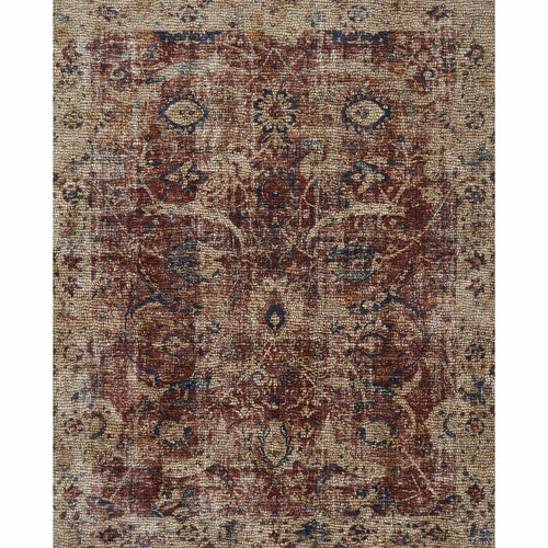 "Loloi Porcia PB-08 Transitional Power Loomed Area Rug-Rugs-Loloi-Red-1'-6"" x 1'-6"" Sample-Heaven's Gate Home, LLC"