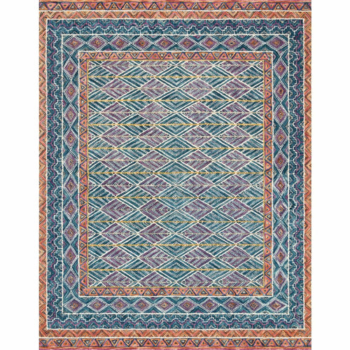 "Loloi Priti PRT-01 Contemporary Hooked Area Rug-Rugs-Loloi-Teal-1'-6"" x 1'-6"" Sample-Heaven's Gate Home, LLC"