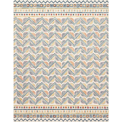 "Loloi Priti PRT-03 Contemporary Hooked Area Rug-Rugs-Loloi-Multi-1'-6"" x 1'-6"" Sample-Heaven's Gate Home, LLC"