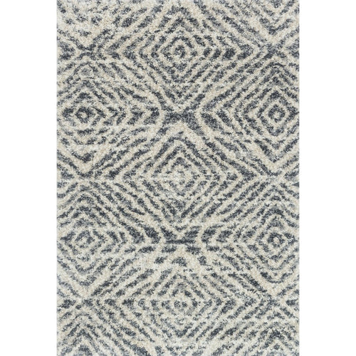 "Loloi Quincy QC-01 Shags Power Loomed Area Rug-Rugs-Loloi-Charcoal-2'-3"" x 4'-0""-Heaven's Gate Home, LLC"