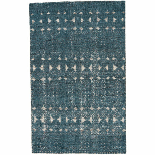 Jaipur Living Reign Abelle REI02 Transitional Handmade Area Rug-Rugs-Jaipur Living-Teal-5'X8'-Heaven's Gate Home, LLC