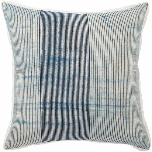 "Jaipur Living Alicia Revolve Blue Handmade Pillow, Set/2-Pillows-Jaipur Living-Blue-22"" x 22"", Set/2-Down-Heaven's Gate Home, LLC"