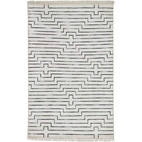Jaipur Living Satellite Alloy SAT02 Global Handmade Area Rug-Rugs-Jaipur Living-White-5'X8'-Heaven's Gate Home, LLC