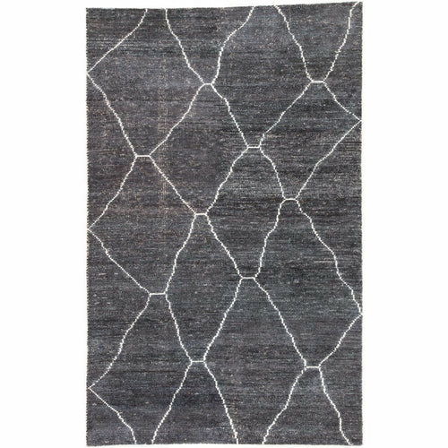 Jaipur Living Satellite Carmine SAT05 Moroccan Handmade Area Rug-Rugs-Jaipur Living-Charcoal-5'X8'-Heaven's Gate Home, LLC