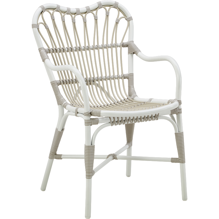 Sika-Design Exterior Margret Dining Chair, Outdoor-Dining Chairs-Sika Design-White-Heaven's Gate Home, LLC