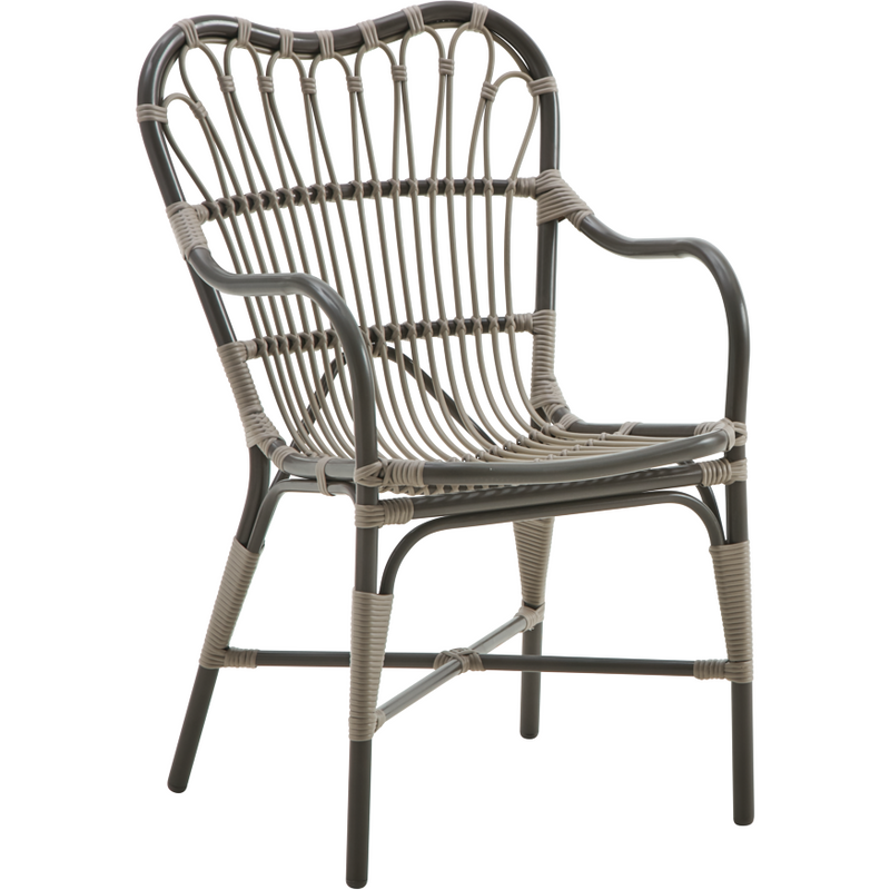 Sika-Design Exterior Margret Dining Chair, Outdoor-Dining Chairs-Sika Design-Brown-Heaven's Gate Home, LLC