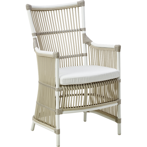 Sika-Design Exterior Dining Davinci Chair w/ Cushion, Outdoor-Dining Chairs-Sika Design-Dove White-Polyester Snow White Cushion-Heaven's Gate Home
