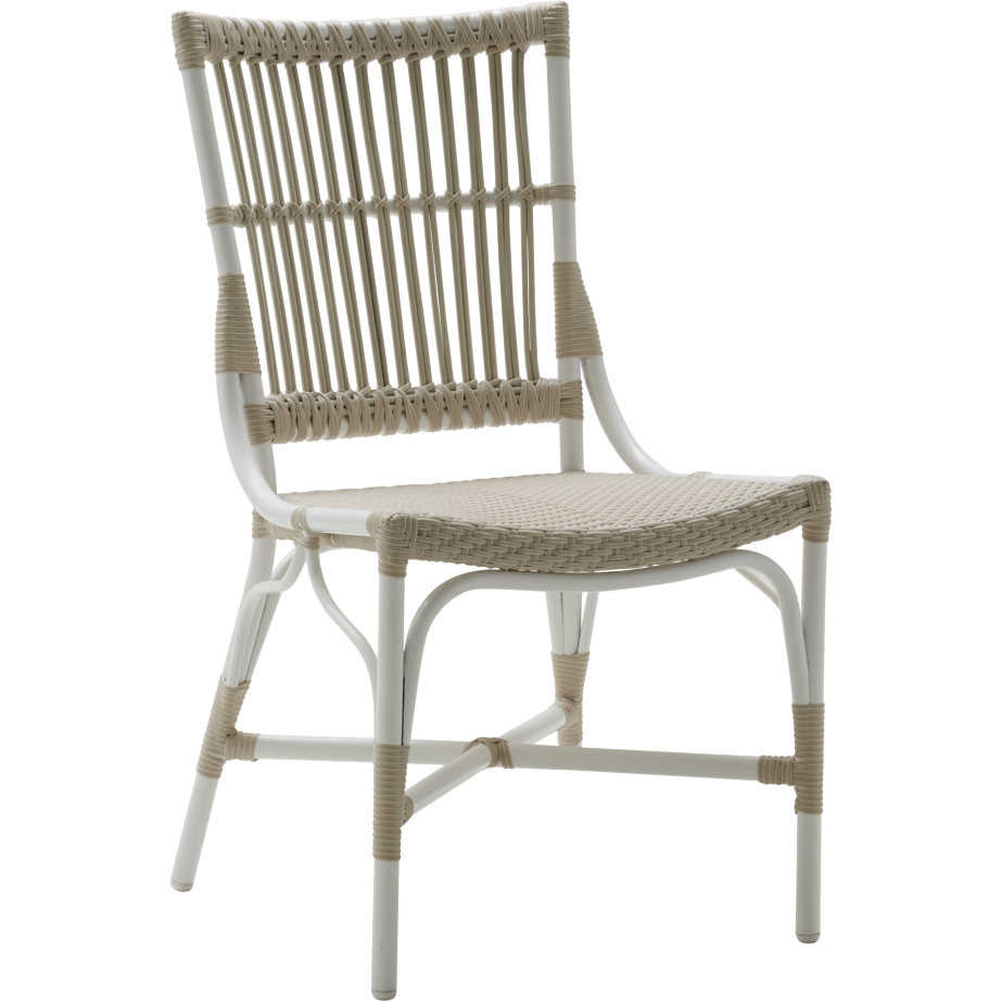 Sika-Design Exterior Piano Dining Side Chair, Outdoor-Dining Chairs-Sika Design-White-Heaven