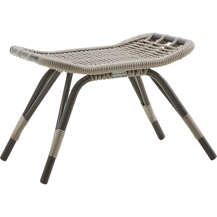 Sika-Design Exterior Monet Footstool, Outdoor-Stools-Sika Design-Brown-Heaven's Gate Home