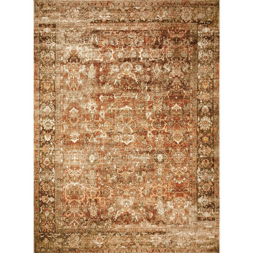 "Loloi Sebastian SEB-01 Traditional Power Loomed Area Rug-Rugs-Loloi-Rust-1'-6"" x 1'-6"" Sample-Heaven's Gate Home, LLC"