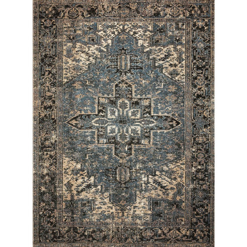 "Loloi Sebastian SEB-02 Traditional Power Loomed Area Rug-Rugs-Loloi-Gray-1'-6"" x 1'-6"" Sample-Heaven's Gate Home, LLC"