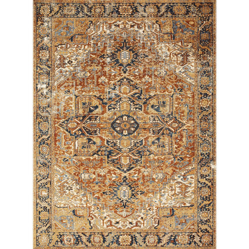 "Loloi Sebastian SEB-03 Traditional Power Loomed Area Rug-Rugs-Loloi-Red-1'-6"" x 1'-6"" Sample-Heaven's Gate Home, LLC"