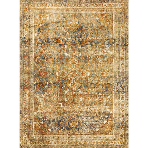 "Loloi Sebastian SEB-04 Traditional Power Loomed Area Rug-Rugs-Loloi-Gold-1'-6"" x 1'-6"" Sample-Heaven's Gate Home, LLC"