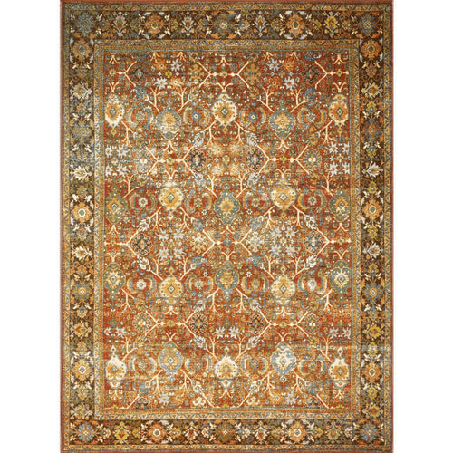 "Loloi Sebastian SEB-06 Traditional Power Loomed Area Rug-Rugs-Loloi-Red-1'-6"" x 1'-6"" Sample-Heaven's Gate Home, LLC"