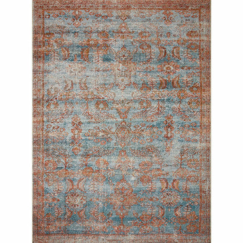 "Loloi Sebastian SEB-07 Traditional Power Loomed Area Rug-Rugs-Loloi-Rust-18"" x 18"" Sample-Heaven's Gate Home, LLC"