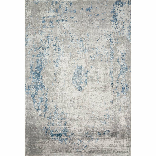 "Loloi Sienne SIE-01 Contemporary Power Loomed Area Rug-Rugs-Loloi-Blue-1'-6"" x 1'-6"" Sample-Heaven's Gate Home, LLC"