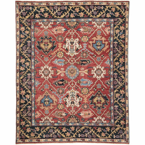 Jaipur Living Salinas Aika SLN02 Traditional Handmade Area Rug-Rugs-Jaipur Living-Red-8'X10'-Heaven's Gate Home, LLC