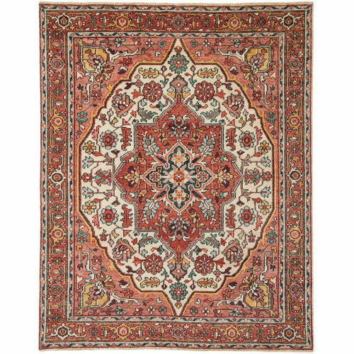 Jaipur Living Salinas Tavola SLN04 Traditional Handmade Area Rug-Rugs-Jaipur Living-Pink-8'X10'-Heaven's Gate Home, LLC