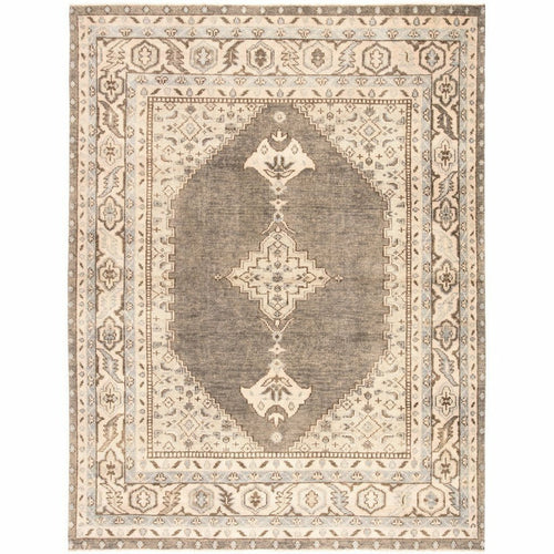 Jaipur Living Salinas Farwell SLN06 Traditional Handmade Area Rug-Rugs-Jaipur Living-Blue-8'X10'-Heaven's Gate Home, LLC