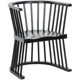 Noir Bolah Windsor Style Dining Chair, Hand Rubbed Black-Dining Chairs-Noir Furniture-Heaven's Gate Home
