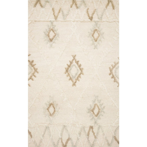 "Loloi Symbology SYM-01 Contemporary Hand Tufted Area Rug-Rugs-Loloi-Ivory-1'-6"" x 1'-6"" Sample-Heaven's Gate Home, LLC"