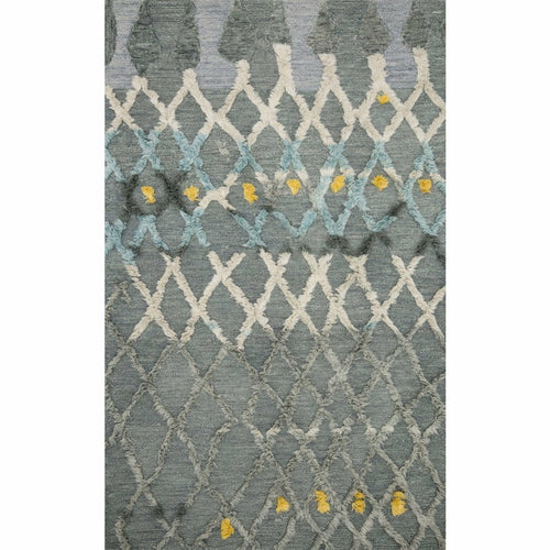 "Loloi Symbology SYM-03 Contemporary Hand Tufted Area Rug-Rugs-Loloi-Gray-1'-6"" x 1'-6"" Sample-Heaven's Gate Home, LLC"