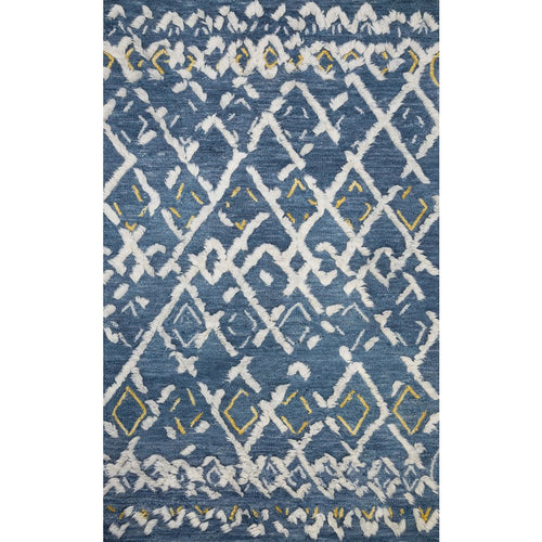 "Loloi Symbology SYM-04 Contemporary Hand Tufted Area Rug-Rugs-Loloi-Blue-1'-6"" x 1'-6"" Sample-Heaven's Gate Home, LLC"