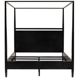 CFC Modern Distressed Oak, Black Shellac 4-Poster Bed, King *Quick Ship*-Beds-CFC-Heaven's Gate Home