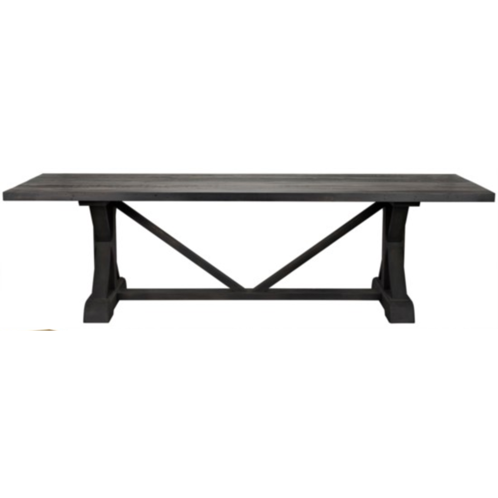 "CFC X Reclaimed Lumber Dining Table, Black Wax, 108"" L *Quick Ship*-Dining Tables-CFC-Heaven"