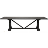 CFC X Reclaimed Lumber Dining Table, Black Wax, 108