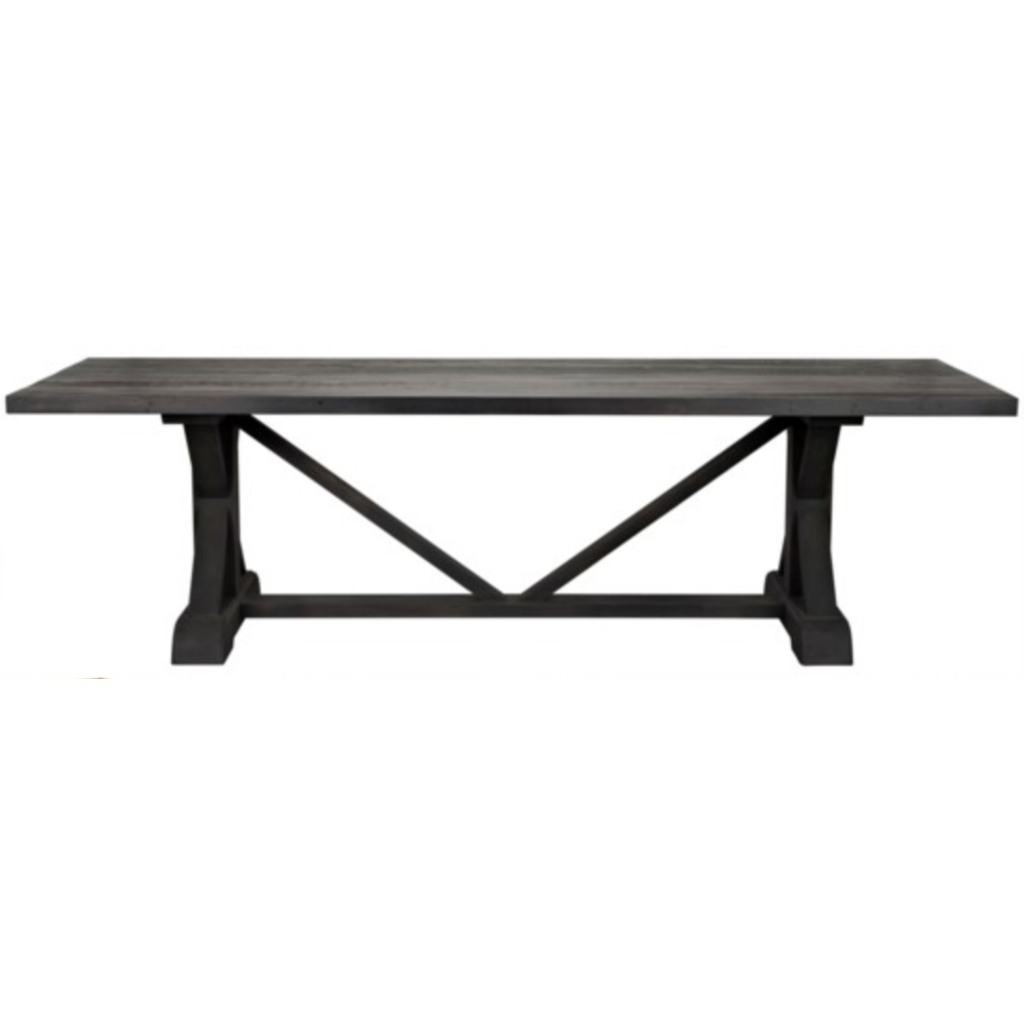 "CFC X Reclaimed Lumber Dining Table, Black Wax, 120"" L *Quick Ship*-Dining Tables-CFC-Heaven"